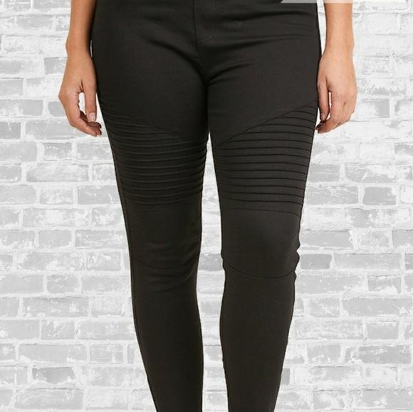 d6842a920f0fe Plus Size Moto Jeggings Ponte Pants